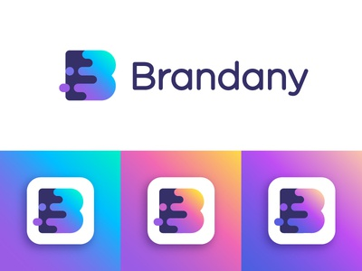 Brandany logo concept | Photo and video editing service icon forward  photo video fast  marketing management social media  growth speed coloring color  friendly trasitions gradient  creative coloring mark  colorful branding splash  color monogram letter  brand blooming evolution  b artistic art  bloom