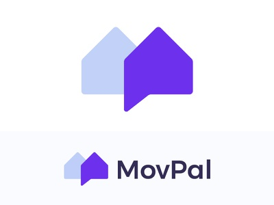 Logo concept for moving house app ( for sale ) communication social chat brand branding houses human arrow transparency real estate home symbol mark design icon brand branding friendly mate familiar link movers fast monogram lettering connection application trustworthy m house houses app move moving pal