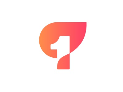 1 + fire logo concept leadership match  dynamic vlog top first leader smart flow fluid simple minimalistic technology branding negative space mark icon brand marketing management flame channel video youtube flare network connection 1 number fire