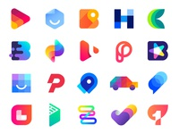 Logo Collection 2 Behance | Monogram, icon, mark, brand, app