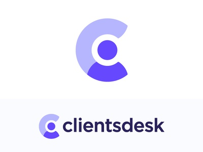 C for client logo concept   CRM software (sold) specialist human help user client  workspace vadim carazan brands branding for sale graph friendly care caring sale marketing analytics upgrade support management negative space circle chart stats sales people app chat human person man c monogram mark