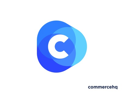 Logo concept for all-in-one ecommerce software (sold) vadim carazan brands branding for sale play triangle circle app letter growth progress trustworthy marketing shopping shop transparency trust money market place marketplace monogram icon mark c commerce e-commerce