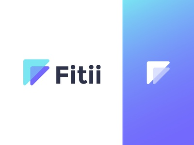 Logo concept for fitness app ( for sale ) winner growth fly success leaderboard leader competition triangle triangles arrow arrows competitive icon mark sport f monogram fitness