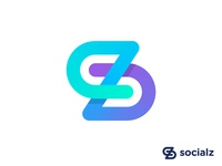 Abstract SZ monogram for influencer marketing management agency