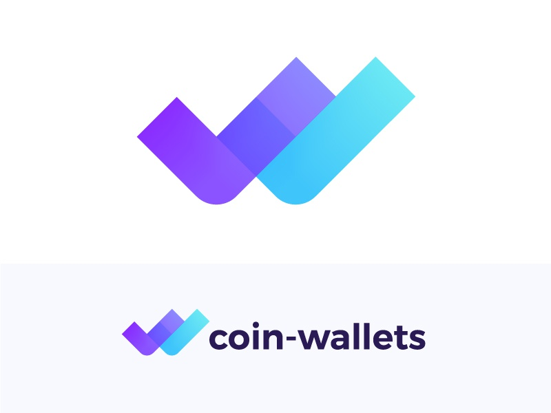 Logo concept for crypto wallets retailer w monogram icon blockchain brand app icon technology bitcoin connection transfer digital currency coin trustworthy cryptocurrency growth expend strust transfer finance stats pay payment wallet check mark done