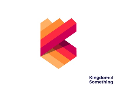 Kingdom logo concept monogram creative art ribbon crest lines illustration kk  badge production creative animation king studio design security royal royalty growth secure medieval mark brand icon crown k shield