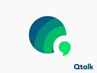 Qtalk logo concept | Calling app ( for sale )