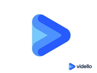 Play logo concept for video marketing app