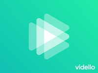 Play logo concept for video hosting and marketing app