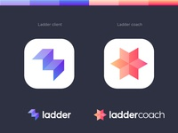 Ladder Client and Ladder Coach app icons