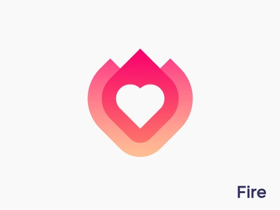 Heart + fire logo concept for dating app  2 ( for sale ) platform woman men socialize social flame connect love hearts woman man transparency smart icon mark logos gender meet meeting