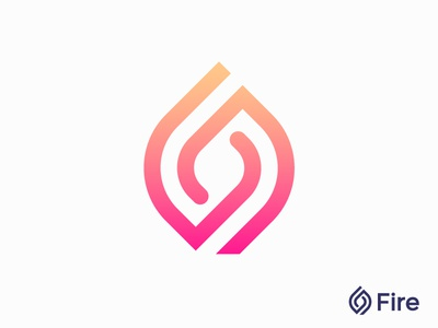 Fire logo concept for dating app