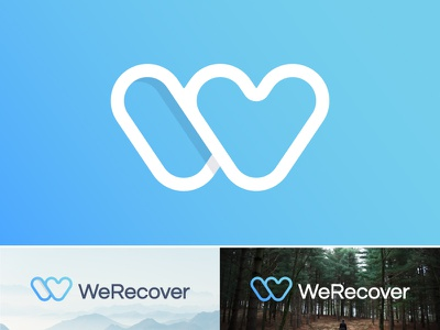 WeRecover logo | Addiction recovery platform health people life lifestyle medicine drug help healthcare caring nature recover we care addicted health caring lifestyle freedom change match matching life nature center treatament we people social medical drugs antidrugs love togetherness transparency connection social help heart w monogram