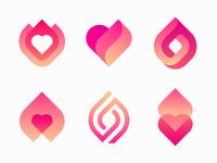 Logo options for dating app