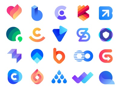 Logo Collection 3 Behance | logos, mark, icon, icons, g v