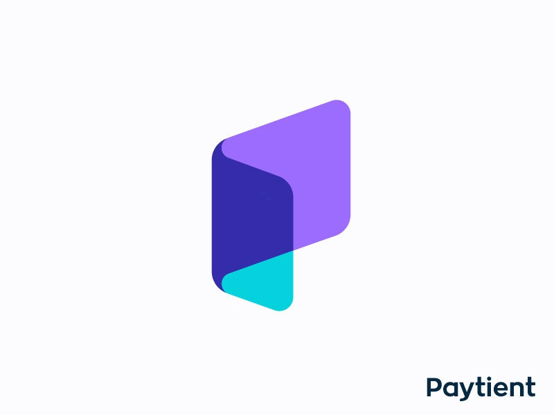 P for Paycheck | Logo concept for medical bill pay app (wip) vadim carazan brands branding health money invoice app application branding growth paytient medicine economy money brand brandbook guidelines branding platform client application modern brand fast speed trustworthy healthcare growth transfer folder mark brand payment finance crypto medical care caring paycheck paper fold monogram icon card