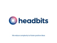 Simplification logo concept for headbits