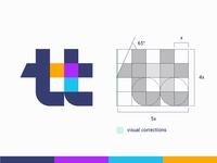 Grid Friday 4 |  tt logo with simple geometric grid