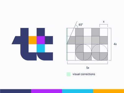 Grid Friday 4 |  tt logo with simple geometric grid ( for sale ) t tt letter lettering mark icon logos monogram training learning hashtag grid team hub together friend brand branding identity