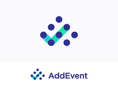A + Check mark + Calendar logo concept for AddEvent