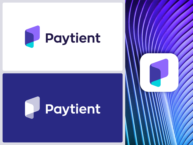 Logo for medical bill pay app | Paytient pocket online technology paper icon p logos identity paycheck pay folder fold medical medicine care caring payment finance cash crypto folder mark book monogram healthcare growth transfer money application modern brand branding platform client