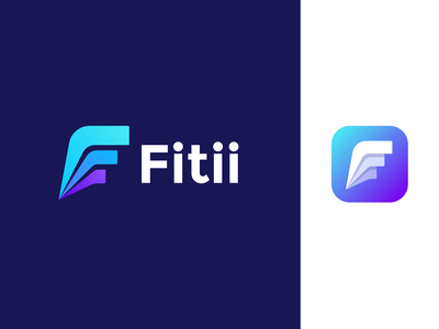Fitii logo design | Competitive fitness app speed icon mark brand sportive letter leader first dynamic competition fit stats f monogram logotype sport