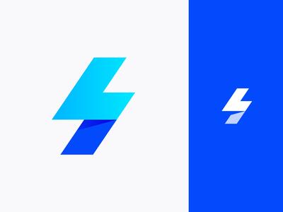 L + lightning bolt + S logo concept