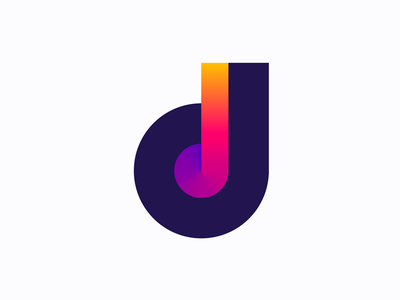 d for disco logo concept ( for sale) note classical logos video trance musical house night dd monogram mark icon new modern creative gradient letter lettering design designer marketing growth leader top vinyl cover record music dance dj music geometric logo gradient colorful color mark icon brand branding