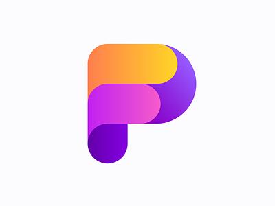 PF monogram (sold) fp pf monogram monograms p f letter lettering logo icon brand branding
