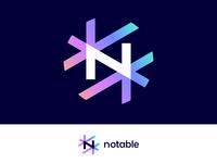 Notable | Logo concept for news platform (wip)