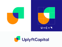 U + C + Arrow logo concept for UplyftCapital