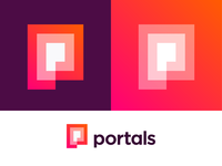 P + Spiral portal logo concept for AR platform