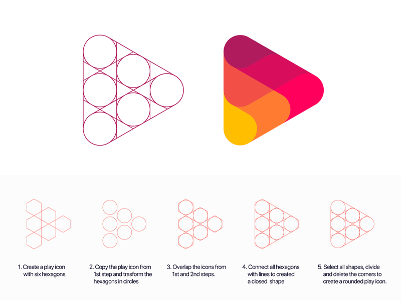 GridFriday 6   Play Fire logo in 5 steps ( for sale ) vadim carazan brands branding data drop water wave marketing music mark logotype overlay game video media step circle flame abstract geometry tutorial grid circle flame link light geometric icon energetic energy smart arrow brand branding