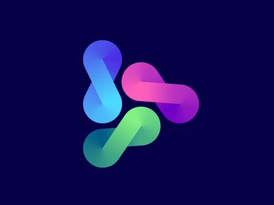 Infinite play logo concept