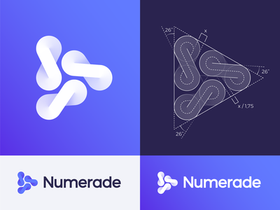 GridFriday 8 | Numerade Logo Grid triangle shape gradient grid 3 limitless school university school student learn learning play video tutorial education infinite math number unlimited mobile icon mobile app brand logo logos icon mark branding