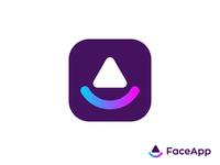 FaceApp logo concept
