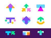 TrueClicks logo concepts
