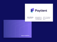 Paytient Business Cards brands paytient pattern gradient logos brand vadim carazan medical care bill bils money transfer help caring wallet pay patient payment p logo monogram icon print business card branding