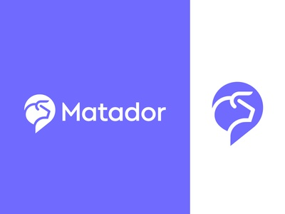 Matador logo concept | Chat platform ( for sale ) real time logos illustration conversation text voice box icon mark app platform space taur social interaction animal line art negative vadim carazan brand brands bull text chat bubble branding