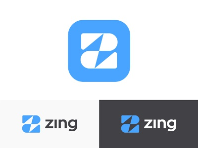 Zing logo concept pt.2 (wip) instant now creating flow space bolt light speed fast z monogram logo negative branding