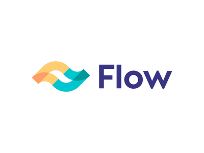 Flow logo concept   Finance company leaf nature fast speed trustworthy trust fintech waves wave ocean water fluid transfer deal negative space smooth currency crypto digital brand carazan brands vadim lines trend flowing up startup money growth chart trend f ff monogram waves logo branding