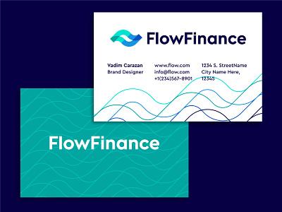 FlowFinance business card design business card branding logo