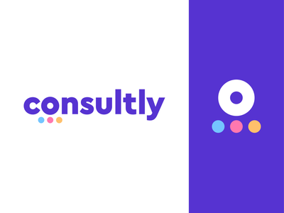 consultly logo concept pt.1 | online consulting platform support help group chat person integration dots circle social communication o human consultant branding logo