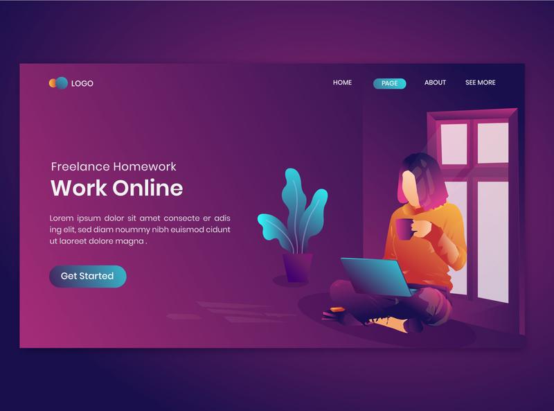 Freelance Homework On Landing Page