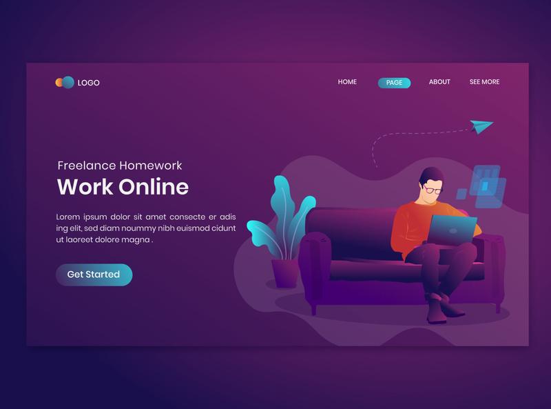 Work Online Freelance Homework On Landing Page