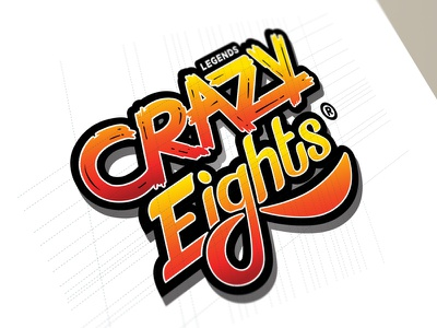 Crazy Eights Logo Design type typography android ios branding video games corporate identity logo