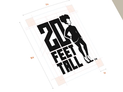 20 Feet Tall Logo african proud text typography silhouette woman black branding logo