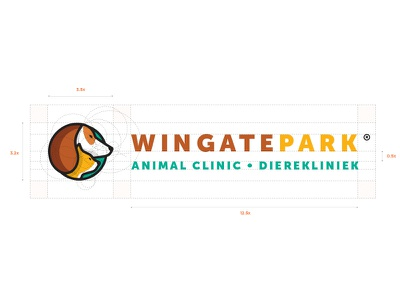Windgate Logo Design (Unused) animal care clinic dog cat monogram color colour design logomark branding logo