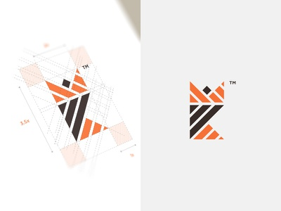 KM Logo Design music artist manager km crown monogram k stripes design logomark branding logo