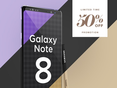 Samsung Galaxy Note 8 Design Mockup